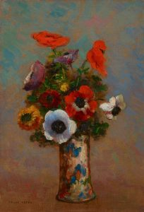 Still Life with Anemones, c. 1900-1910, Odilon Redon, French 1840-1916, Oil on Canvas, Bequest of Bruce Dayton, 2016.33.58