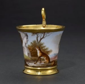 Cup from a tea service for twelve, 1807–08 Christophe-Ferdinand Caron; Manufacturer: Sèvres Porcelain Factory GIFT OF THE GROVES FOUNDATION FUND