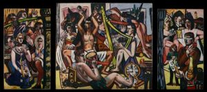 Blind Man's Buff, 1945 Max Beckmann Oil on canvas Gift of Mr. and Mrs. Donald Winston 55.27A-C