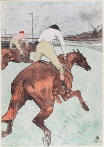 Henri de Toulouse-Lautrec French, 1864–1901 The Jockey, 1899 Color lithograph on chine volant paper Purchase through Art Quest 2003 and The William Hood Dunwoody Fund 2003.214 Henri de Toulouse-Lautrec French, 1864–1901 The Jockey